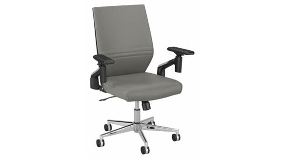 Office Chairs Bush Furnishings Mid Back Leather Office Chair
