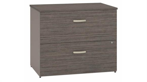 """File Cabinets Lateral Bush Furnishings 36""""W 2 Drawer Lateral File Cabinet"""