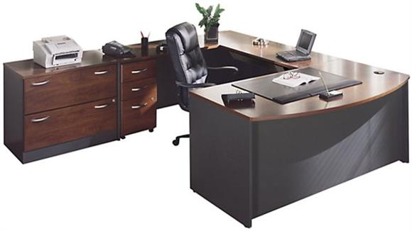 U Shaped Desks Bush Furnishings U Shaped Desk with Lateral File
