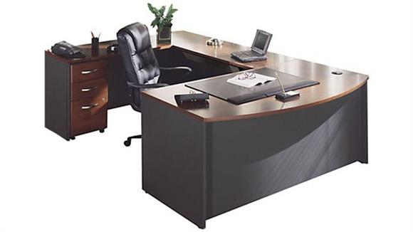 U Shaped Desks Bush Furnishings Bow Front U Shaped Desk