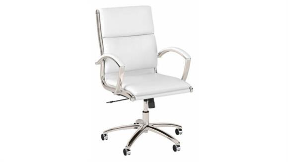 Office Chairs Bush Furnishings Mid Back Leather Executive Desk Chair