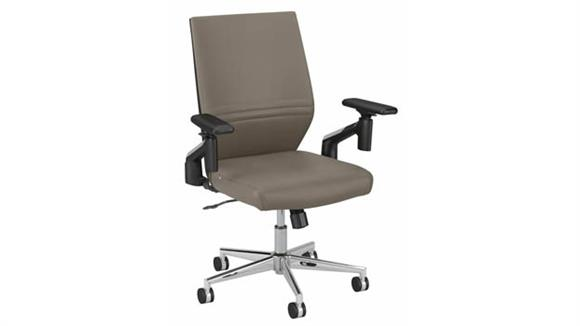 Office Chairs Bush Furnishings Mid Back Leather Desk Chair