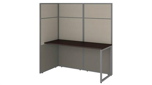 """Workstations & Cubicles Bush Furnishings 60""""W Cubicle Desk Workstation with 66""""H Open Panels"""