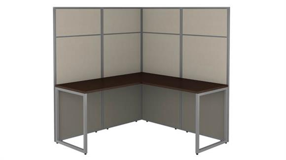 """Workstations & Cubicles Bush Furnishings 60""""W L-Shaped Cubicle Desk Workstation with 66""""H Panels"""