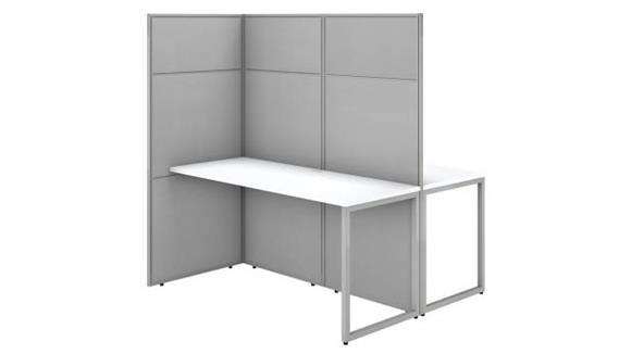 """Workstations & Cubicles Bush Furnishings 60""""W 2 Person Cubicle Desk Workstation with 66""""H Panels"""