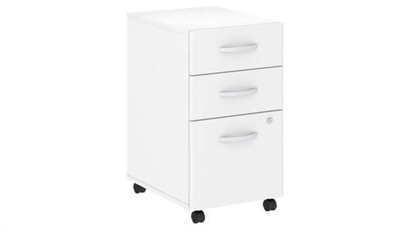 Mobile File Cabinets Bush Furnishings 3 Drawer Mobile File Cabinet - Assembled