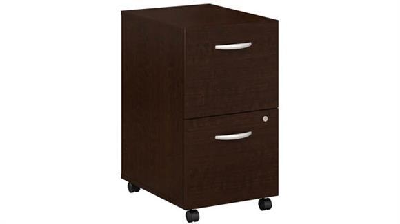 Mobile File Cabinets Bush Furnishings 2 Drawer Mobile File Cabinet - Assembled