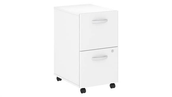 Mobile File Cabinets Bush Furnishings 2 Drawer Mobile File Cabinet - Assembled
