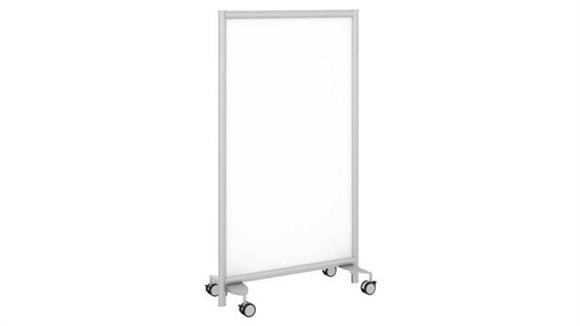 White Boards & Marker Boards Bush Furnishings Freestanding White Board Screen with Wheeled Base