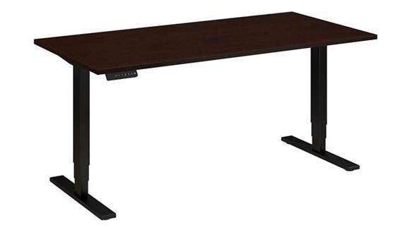 "Adjustable Height Desks & Tables Bush Furnishings 60""W x 30""D Electric Height Adjustable Standing Desk"