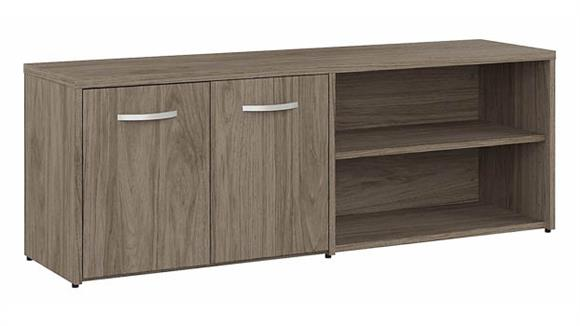 Storage Cabinets Bush Furnishings Low Storage Cabinet with Doors and Shelves