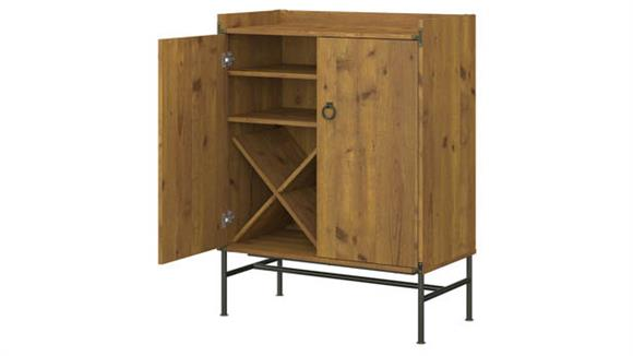 Wine Storage Bush Furnishings Multi Use Cabinet with Wine Storage