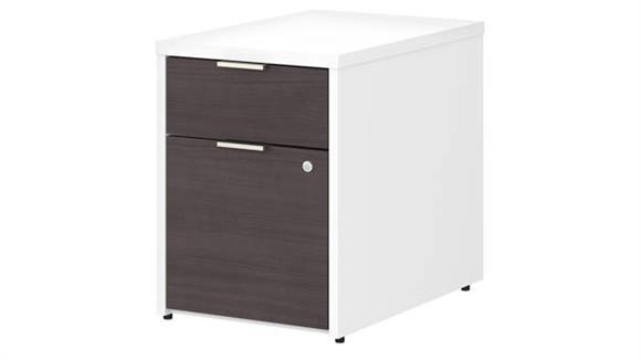 File Cabinets Vertical Bush Furnishings 2 Drawer Vertical File Cabinet - Assembled