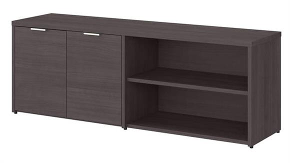 """L Shaped Desks Bush Furnishings 60""""W Low Storage Cabinet with Doors and Shelves"""