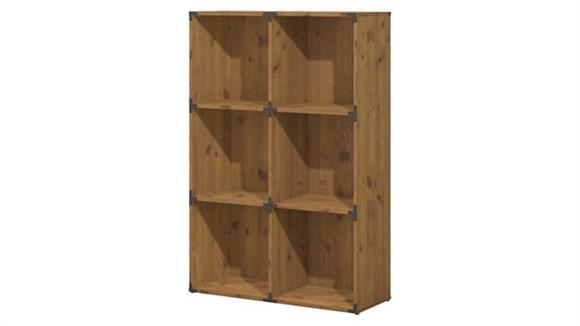 Bookcases Bush Furnishings 6 Cube Bookcase