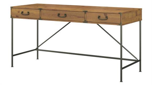 "Writing Desks Bush Furnishings 60""W Writing Desk with Drawers"