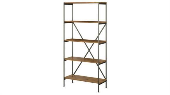 Bookcases Bush Furnishings 5 Shelf Etagere Bookcase