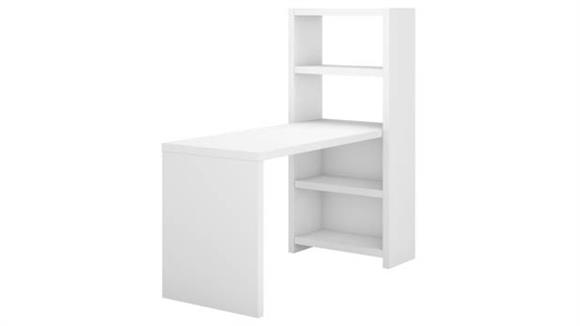"Computer Desks Bush Furnishings 56""W Bookcase Desk"