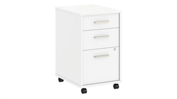 Mobile File Cabinets Bush Furnishings 3 Drawer Mobile File Cabinet