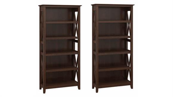 Bookcases Bush Furnishings 5 Shelf Bookcase (Set of 2)