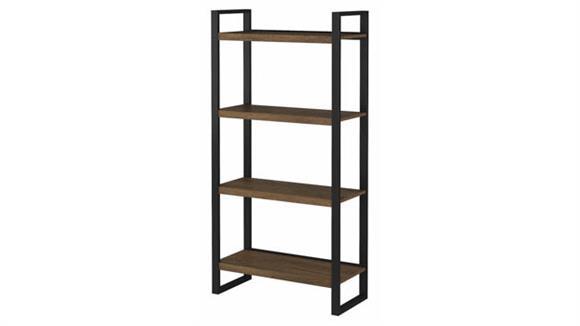 Bookcases Bush Furnishings 4 Shelf Etagere Bookcase