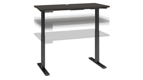 "Adjustable Height Desks & Tables Bush Furnishings 48""W x 24""D Electric Height Adjustable Standing Desk"