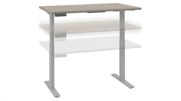 "Adjustable Height Desks & Tables Bush Furnishings 48""W x 30""D Height Adjustable Standing Desk"