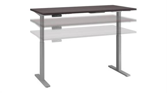 "Adjustable Height Desks & Tables Bush Furnishings 60""W x 30""D Height Adjustable Standing Desk"