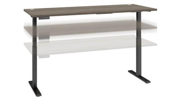 "Adjustable Height Desks & Tables Bush Furnishings 72""W x 30""D Electric Height Adjustable Standing Desk"