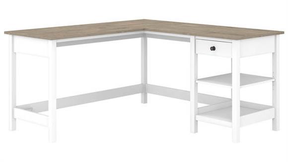 "L Shaped Desks Bush Furnishings 60""W L-Shaped Computer Desk with Storage"