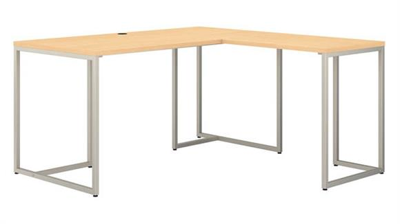 "L Shaped Desks Bush Furnishings 60""W L-Shaped Desk with 30""W Return"