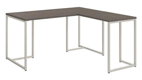 "L Shaped Desks Bush Furnishings 60""W L-Shaped Desk with 30""W Return"