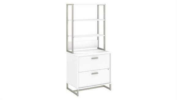 File Cabinets Lateral Bush Furnishings Lateral File Cabinet with Hutch