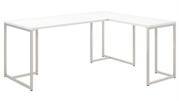 "L Shaped Desks Bush Furnishings 72""W L-Shaped Desk with 30""W Return"