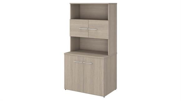 """Storage Cabinets Bush Furnishings 36""""W Tall Storage Cabinet with Doors and Shelves"""