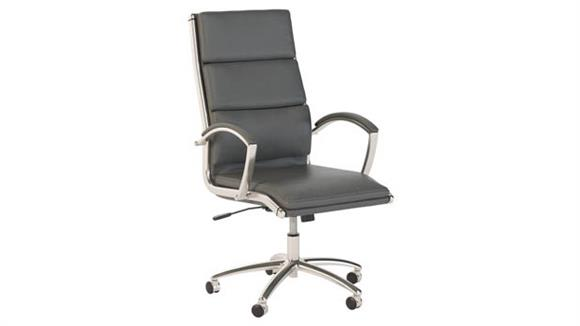 Office Chairs Bush Furnishings High Back Leather Executive Chair