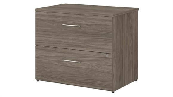 "File Cabinets Lateral Bush Furnishings 36""W 2 Drawer Lateral File Cabinet - Assembled"