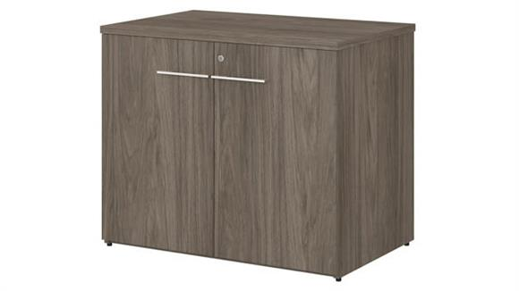"""Storage Cabinets Bush Furnishings 36""""W Storage Cabinet with Doors - Assembled"""