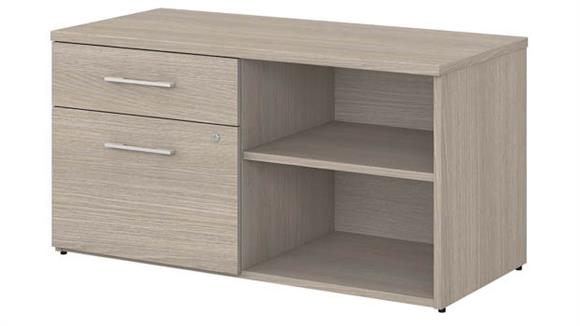 Storage Cabinets Bush Furnishings Low Storage Cabinet with Drawers and Shelves
