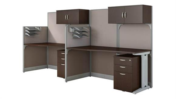 Workstations & Cubicles Bush Furnishings Set of 2 Workstations with Storage