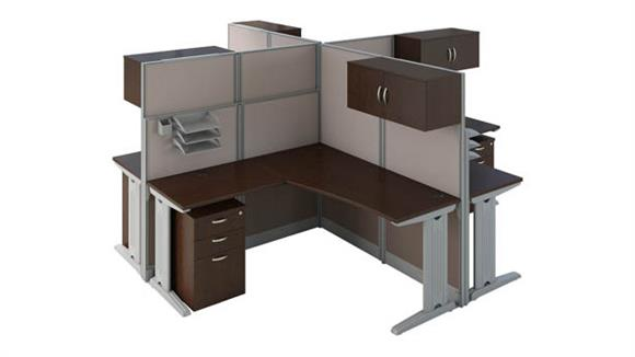 Workstations & Cubicles Bush Furnishings Set of 4 L Workstations