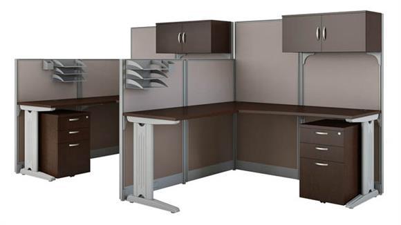Workstations & Cubicles Bush Furnishings Set of 2 L Workstations