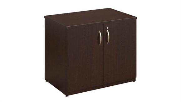 """Storage Cabinets Bush Furnishings 36""""W Storage Cabinet with Doors and Shelves"""