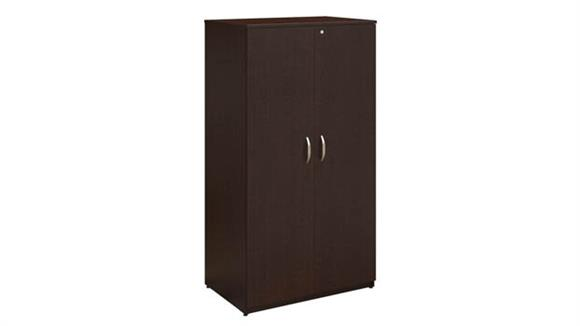 "Storage Cabinets Bush Furnishings 36""W Wardrobe Storage Cabinet"