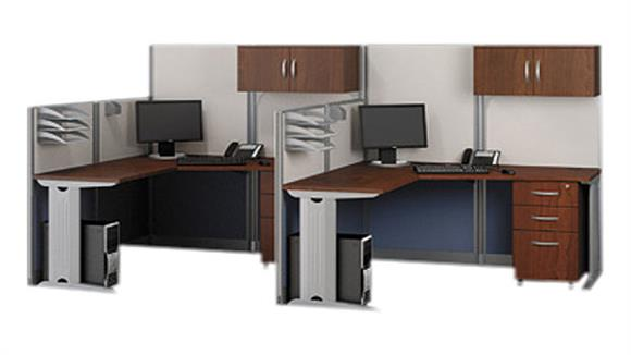 Workstations & Cubicles Bush Furnishings Set of 2 L Workstations