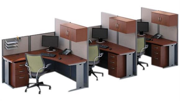 Workstations & Cubicles Bush Furnishings Set of 3 L Workstations
