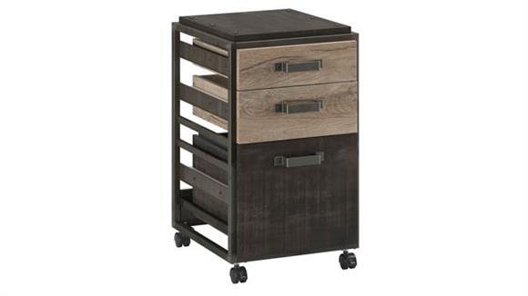 Mobile File Cabinets Bush Furnishings 3 Drawer Mobile File Cabinet