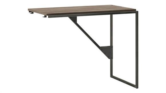 "Desk Parts & Accessories Bush Furnishings 37"" W Industrial Desk Return"