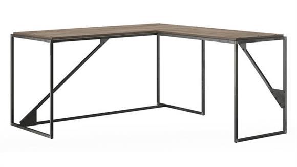 "L Shaped Desks Bush Furnishings 62"" W L-Shaped Industrial Desk"