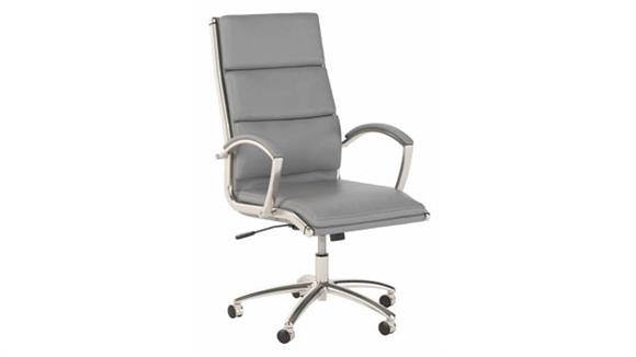 Office Chairs Bush Furnishings High Back Leather Executive Desk Chair